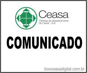 Comunicado ceasa